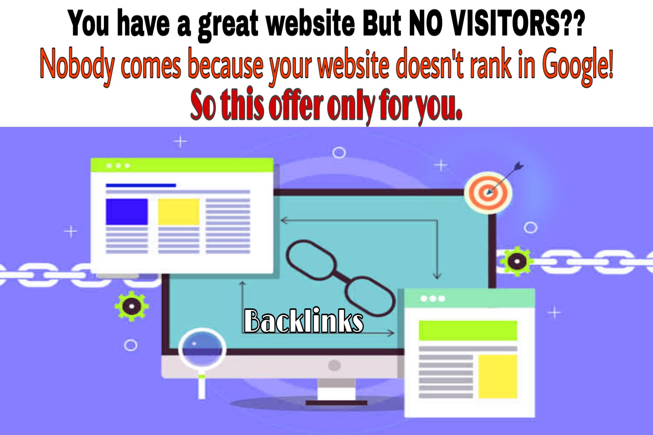 I Provide 100 Manual backlinks with your websites or keywords