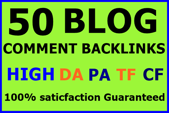 50+ Niche related blog comment Backlinks-Top service