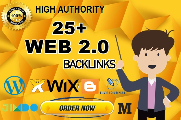 Skyrocket your website with 25+ web 2.0 properties-High Authority Backlinks