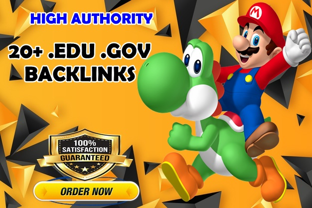 20+ .Edu .Gov High Authority SEO Backlinks for website rank Boost