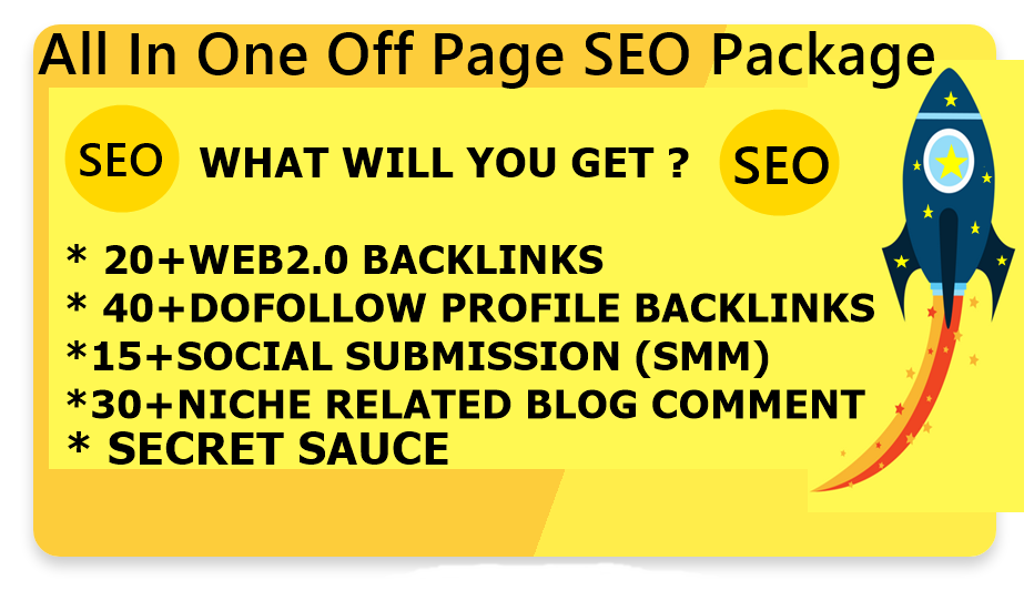 All In One Off Page SEO Service Get Quality Backlinks High DA-Top service