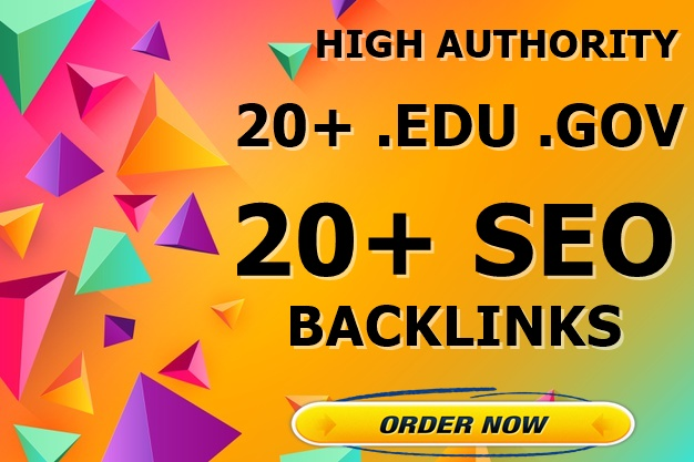 20+ EDU GOV 20+ High Authority SEO Backlinks-Top service
