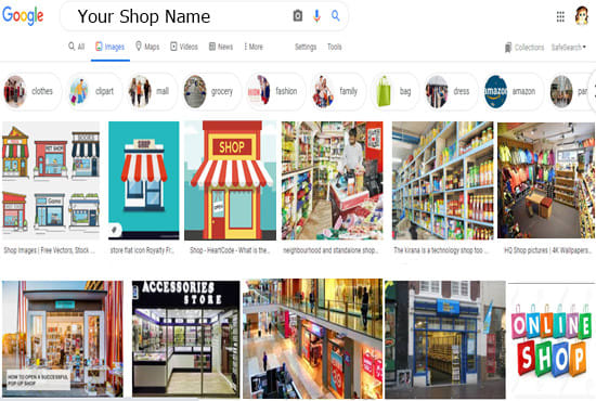 Google image SEO,  show your shop image on google 1 page