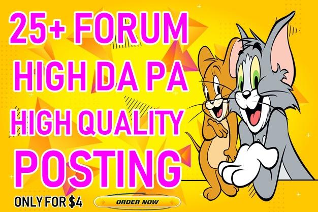 25+ High DA forum posting Backlinks-Top forum posting service in seoclerk