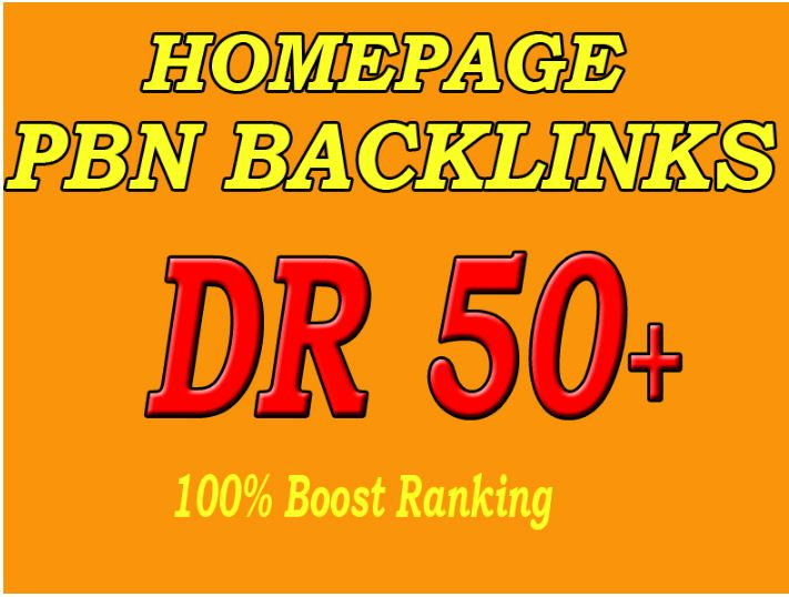 Build 100 Permanent DR 50+ Homepage PBN Dofollow Backlink
