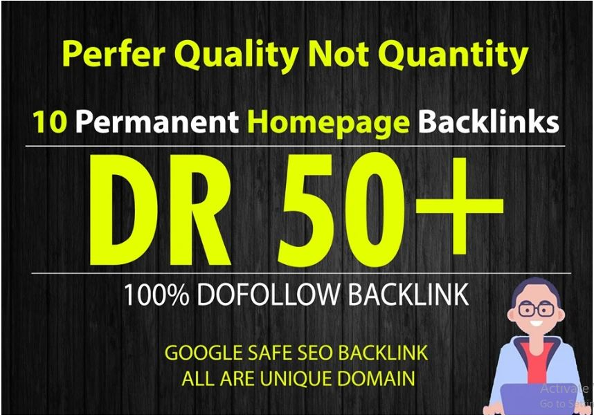 Build 10 PBN DR 50+ Homepage Parmanent Pbn Backlinks