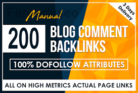 I will create 200 dofollow blog comments backlinks
