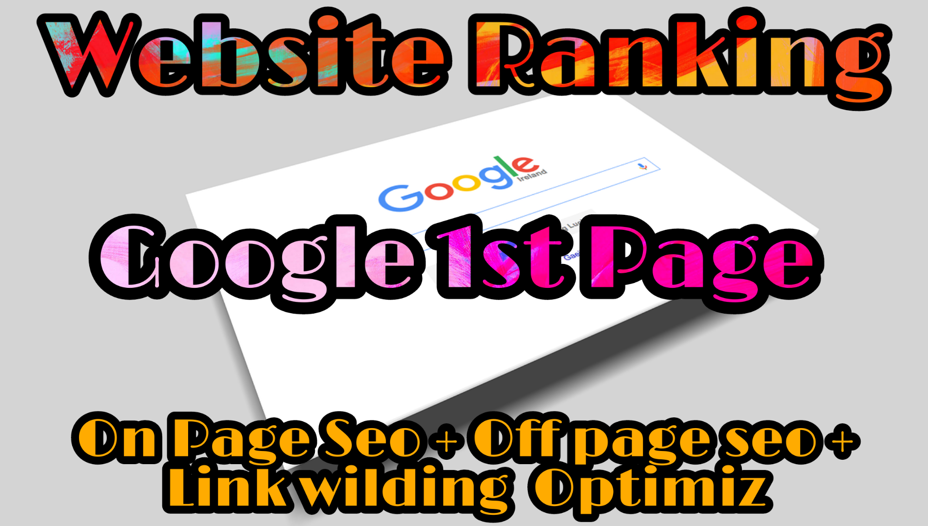 Full SEO And Your Website Ranking Google 1st Page