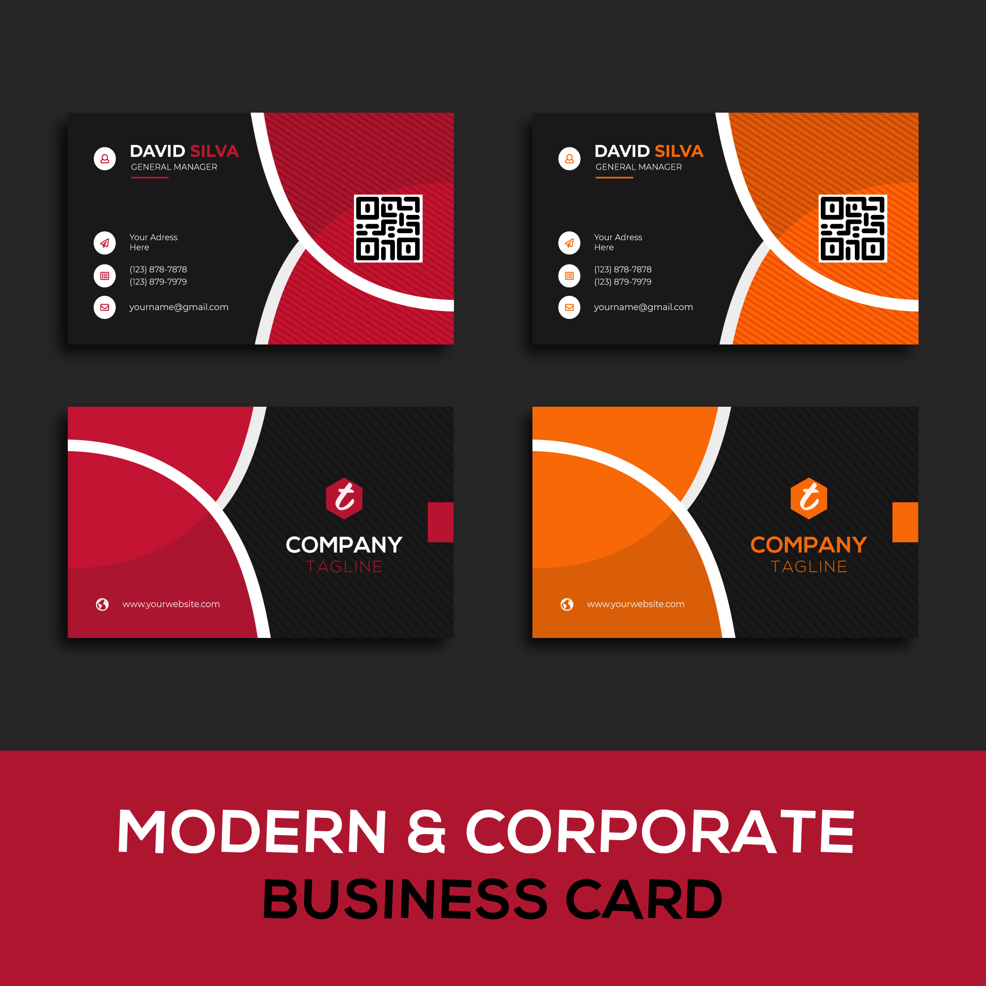 I will provide professional & creative business card design for your company