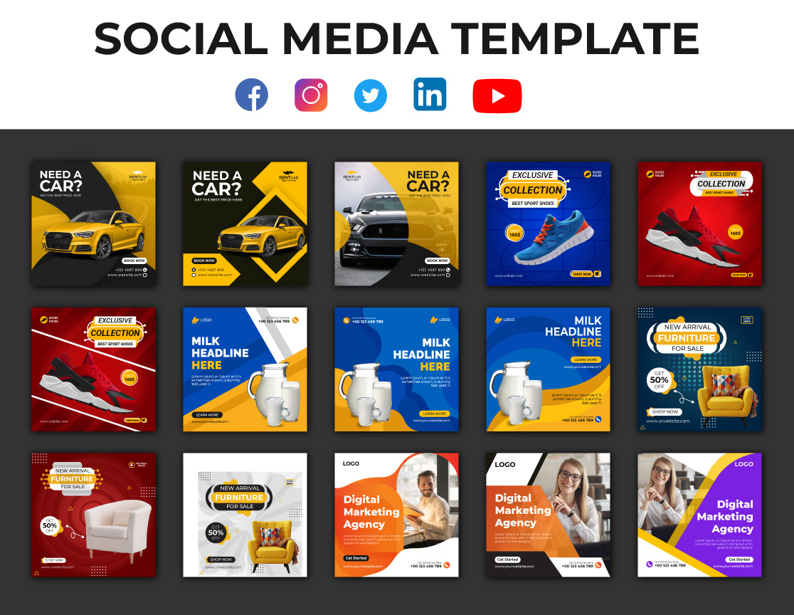 I will do Creative Design For Social Media Post,  Cover,  Story,  Ads,  Banner,  Thumbnail,  Template