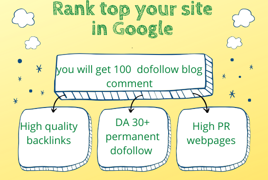 You will get 100 High Quality & 100% permanent Do Follows from High PR Web pages!