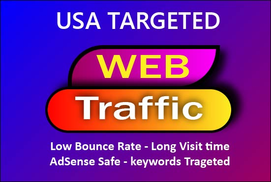 send 5,000+ 1 min+ USA Organic target web traffic with low bounce rate