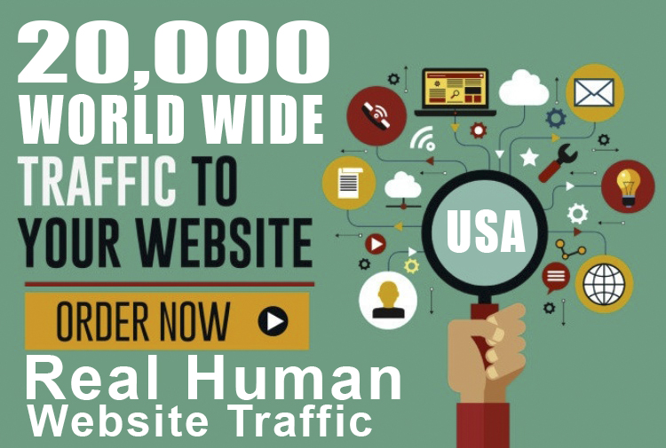 I well Drive 20k Real Human Website Traffic one month