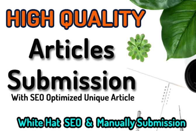 25 Article Submission SEO Backlinks with Keywords Anchors