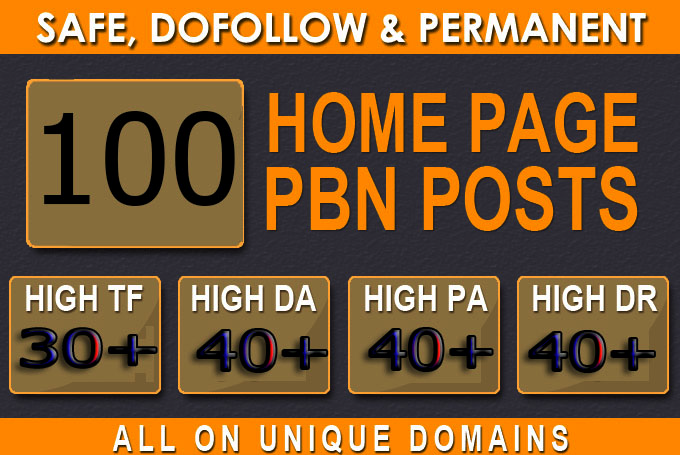 Get Super 100+ Premium PBNs BACKLINK with high DA/PA/CF/TF in your hompage WITH Unique Website