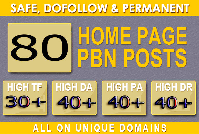 Construct 80+ Back-interface with 40+ Da 40+ PA DO-FOLLOW and Homepage pbn with 80+ remarkable site
