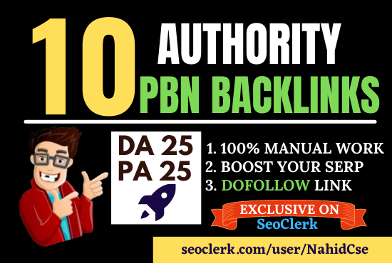 Manually 10 Homepage PBN Dofollow Backlinks or Blog Post for SERP Boost