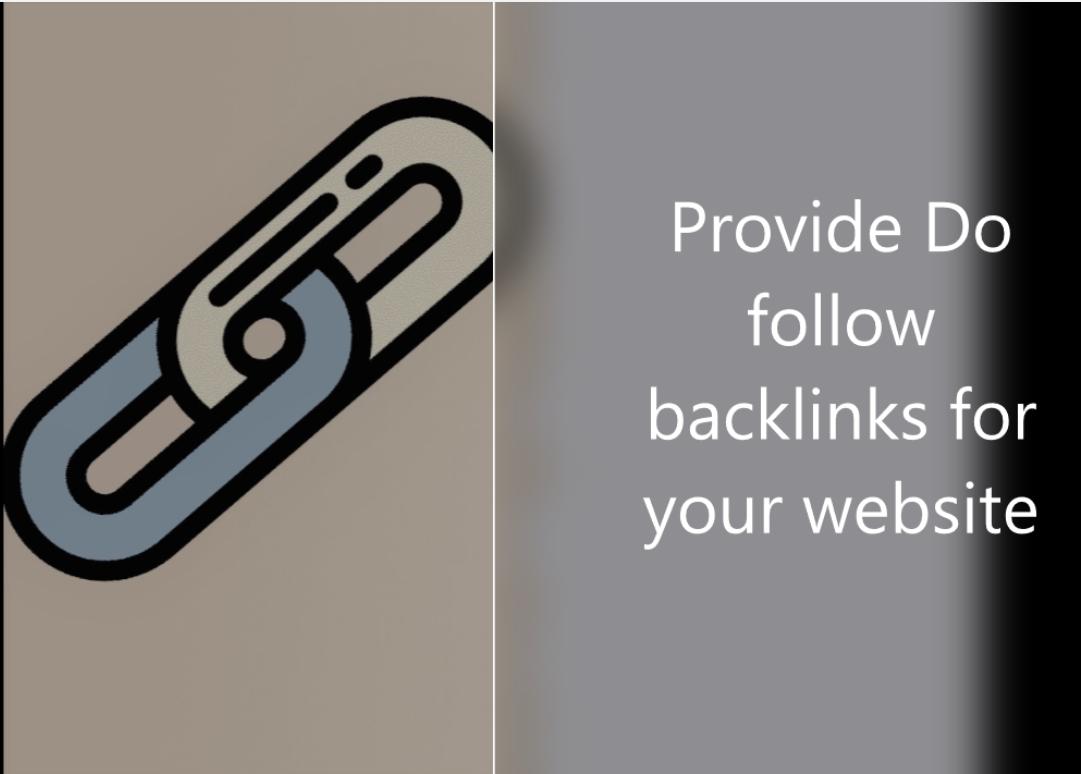 Provide 20 do follow backlinks for your website