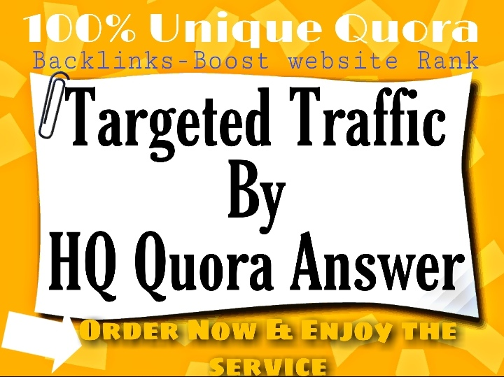 Rocket speed promote your website with unique 40+ HQ Quora answer backlinks