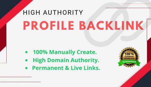 I will do Manually 25 High Quality Profile Backlinks