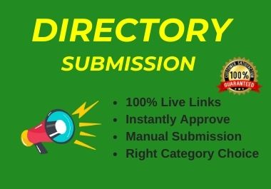 Instant Approve 60 Live Web Directory Submissions Manually from High Authority Directories