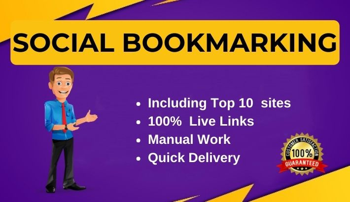 50 Social bookmarking live links manually from Top bookmark sites