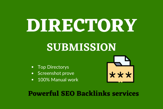 Get 30 Directory Submission live links manually with instant approval