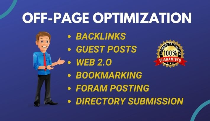 Monthly off page optimization / SEO service manually for google top ranking