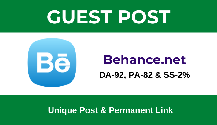 Write and Publish Dofollow Guest post on Behance. net - DA92