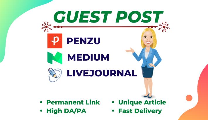 I will write and publish High DA Guest Post - DA 90+ & high Traffic