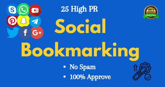 I will Create 25 High PR Social Bookmarking SEO Backlinks