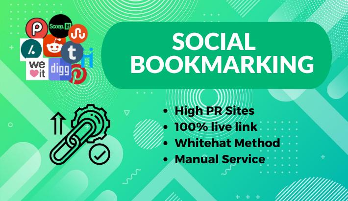 Top 50 Social Bookmarking Manually for Google ranking