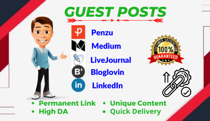 3 Guest post on Medium,  LiveJournal & LiveJournal DA 80+ blogs