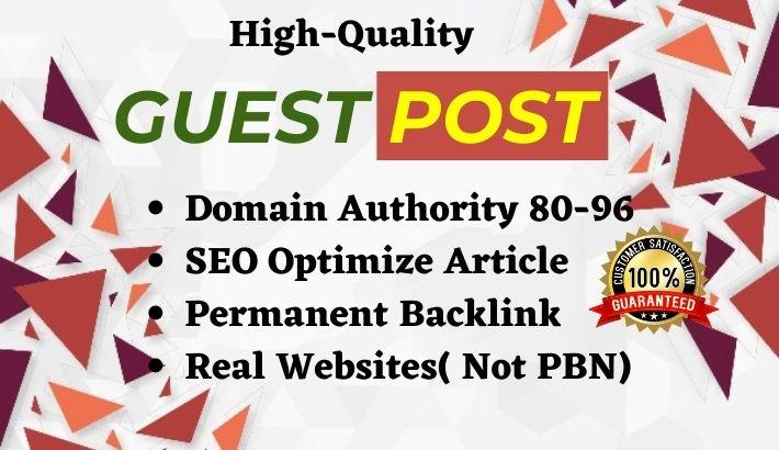 Write & Publish 3 High Quality Guest Posts on Medium,  LiveJournal & LinkedIn com-DA 90+