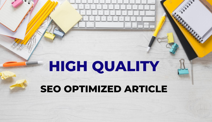 500 words plus HQ SEO optimized article/content writing on any topic