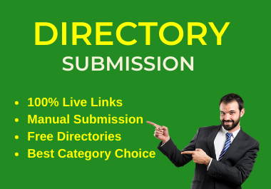 Instant Approve 50 Live Web Directory Submissions Manually from High Authority Directories