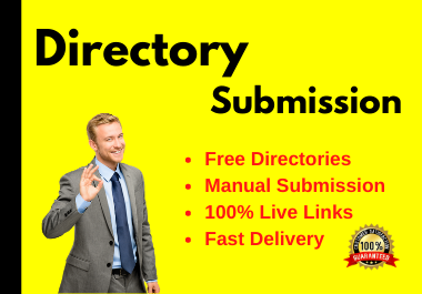 Instant Approval 40 Live Directory Submissions link Manually from free directories
