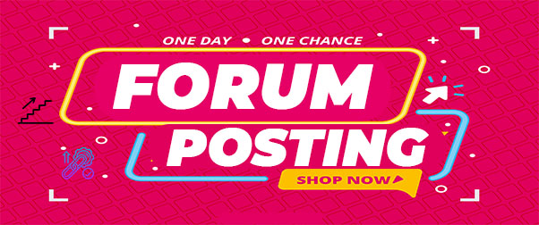 I will Do 20 High Quality Forum Posting Backlinks