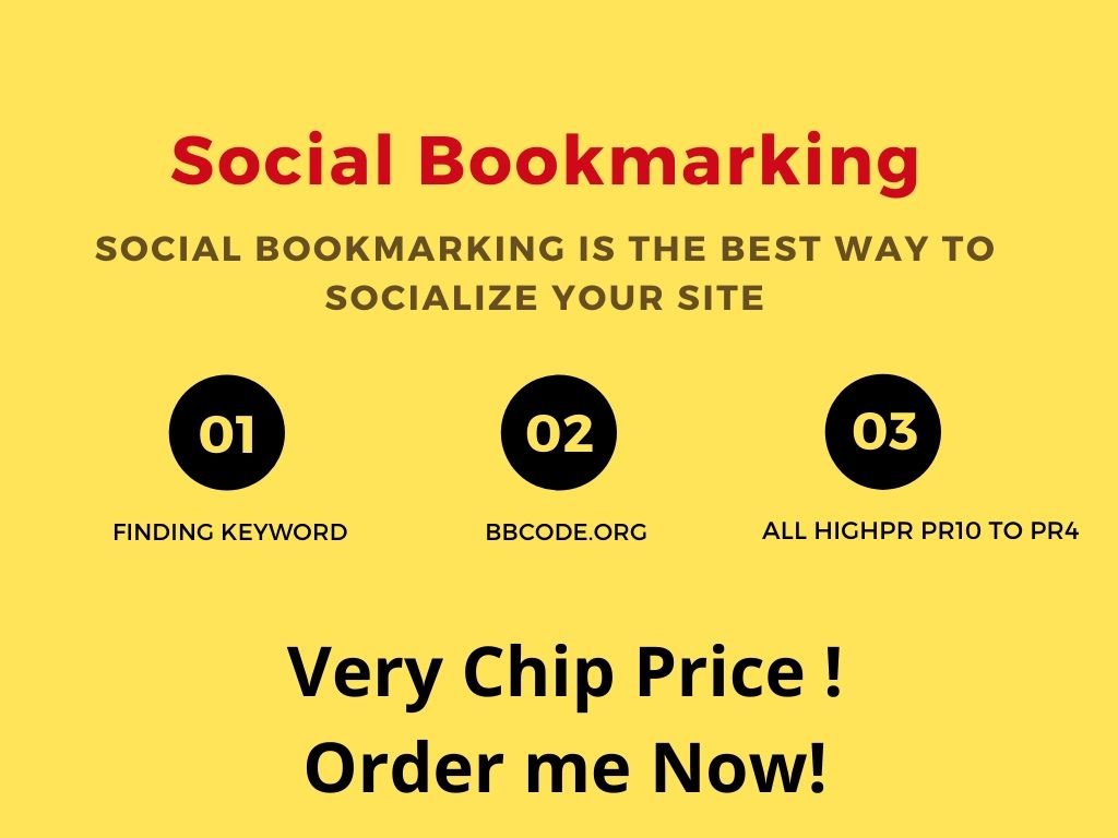 I will Do Top 100 Top Social Bookmarking Sites With Dofollow Backlinks & High DA,  PR