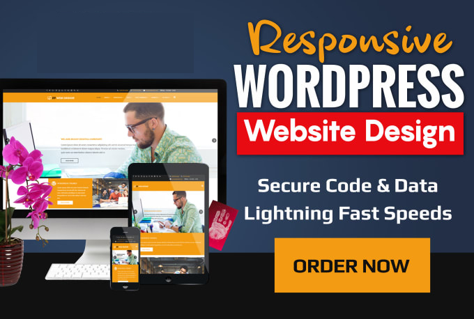 I will design,  Redesign,  customize your wordpress website.