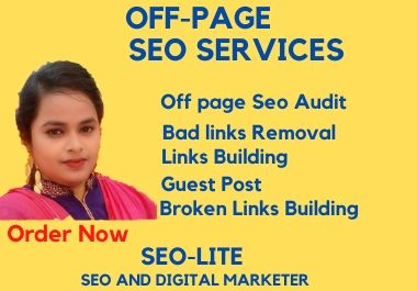 I will do off page SEO service,  manual high quality backlinks