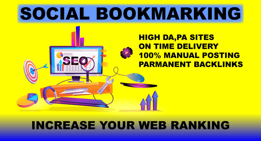 I will create manually 25 Social Bookmarking Submission with High-Quality Backlinks