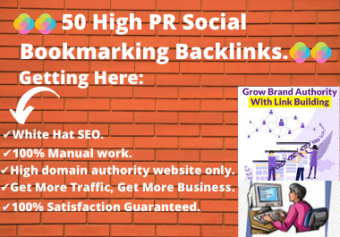 50 High PR Social Bookmarking Backlinks For Advanced SEO