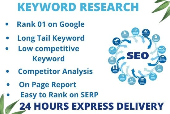 I will be able to do long tail seo keyword research to rank your site fast