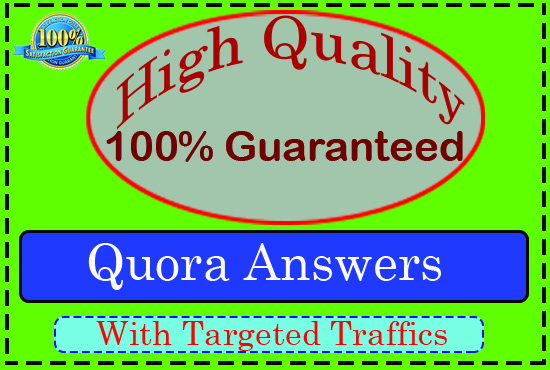 Provide Niche Relevant 15+ Quora answer targeted traffic.