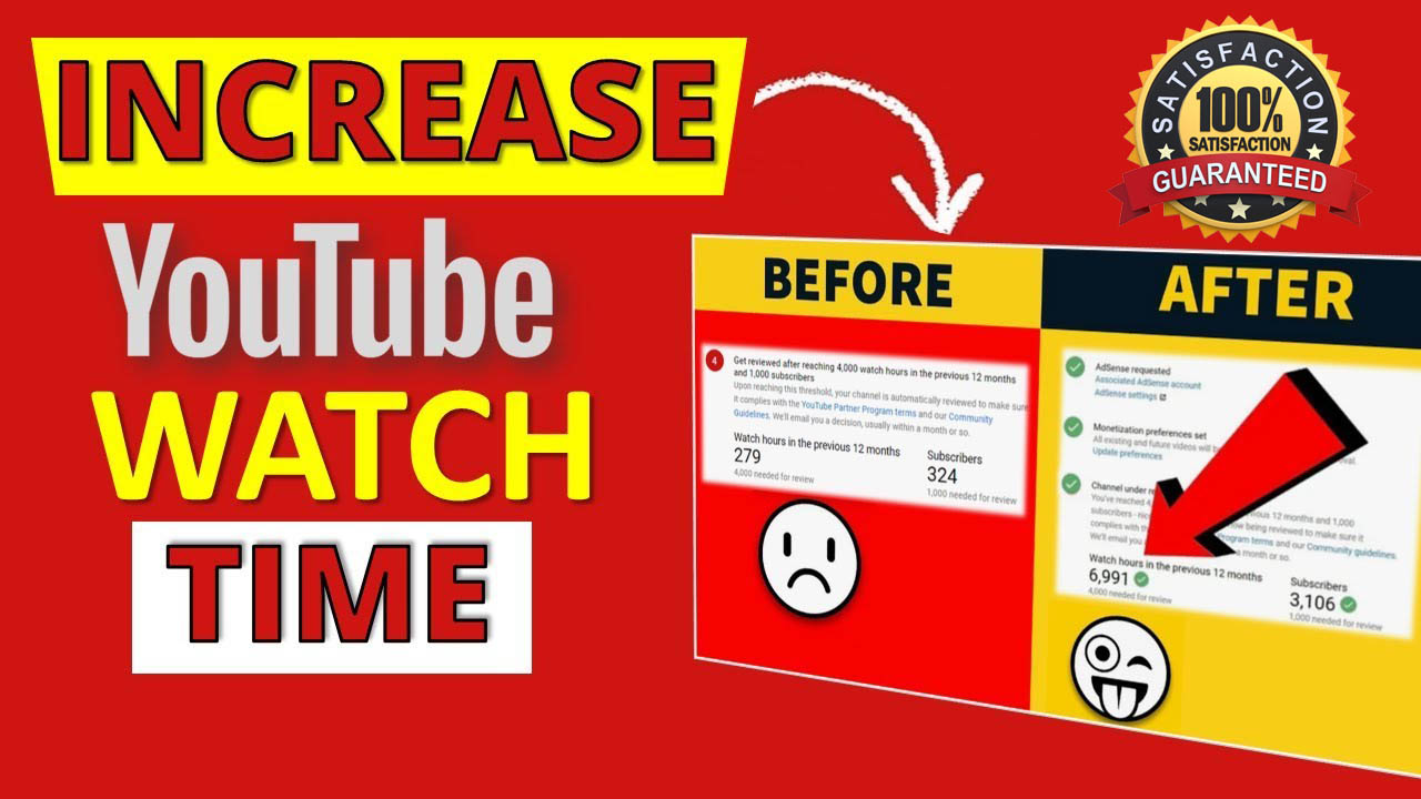 Increase Your Youtube Watch Time Guaranteed Results