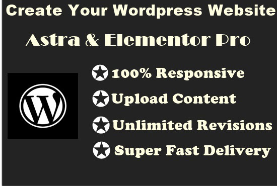 I will build your WordPress website using Astra and Elementor pro