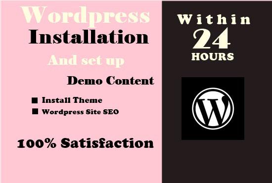 create wordpress theme and setup like demo