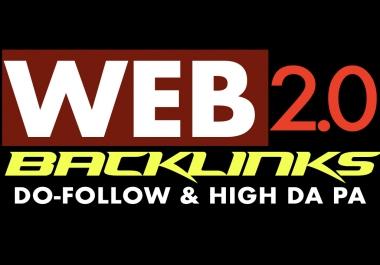 DA 80+ 100 50 Web2.0 + 50 EDU/GOV links with High DA