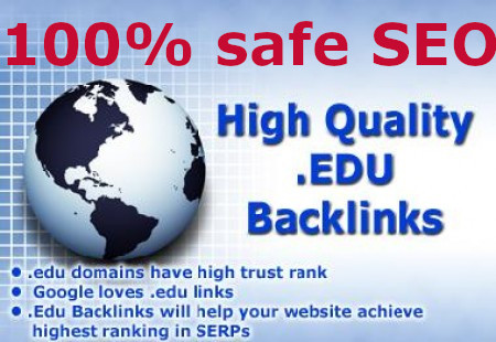 manually PR 9+ EDU & GOV websites Safe10 Back-links with DA70+ PA50+